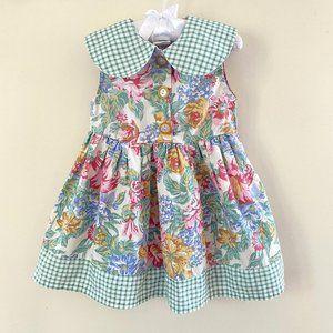 Vintage Rachel's Kids Floral Dress
